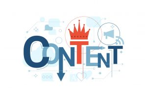 Content marketing is king concept