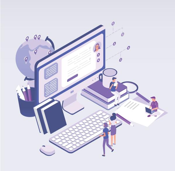Educational content marketing concept