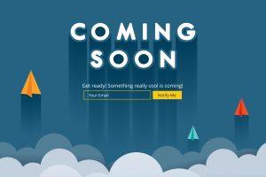 Website design announcment sample