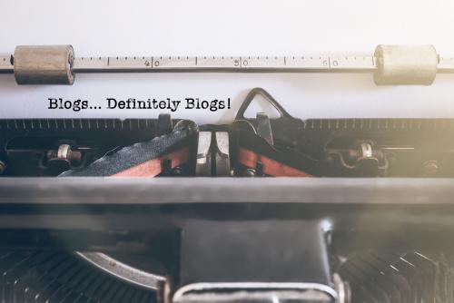 Website blog writing vintage typewriter