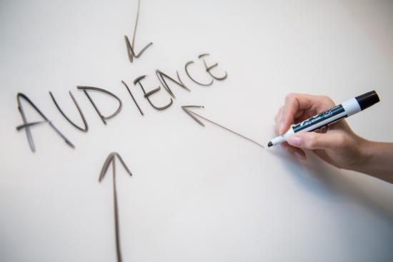 Digital marketing target audience whiteboard